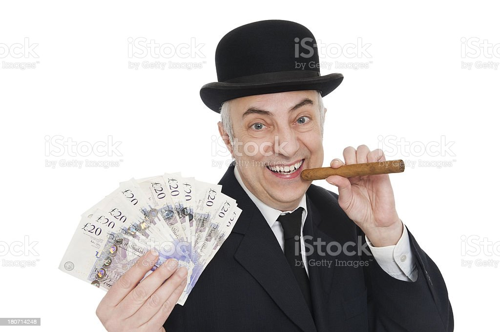 Businessman With Loads Of Money royalty-free stock photo