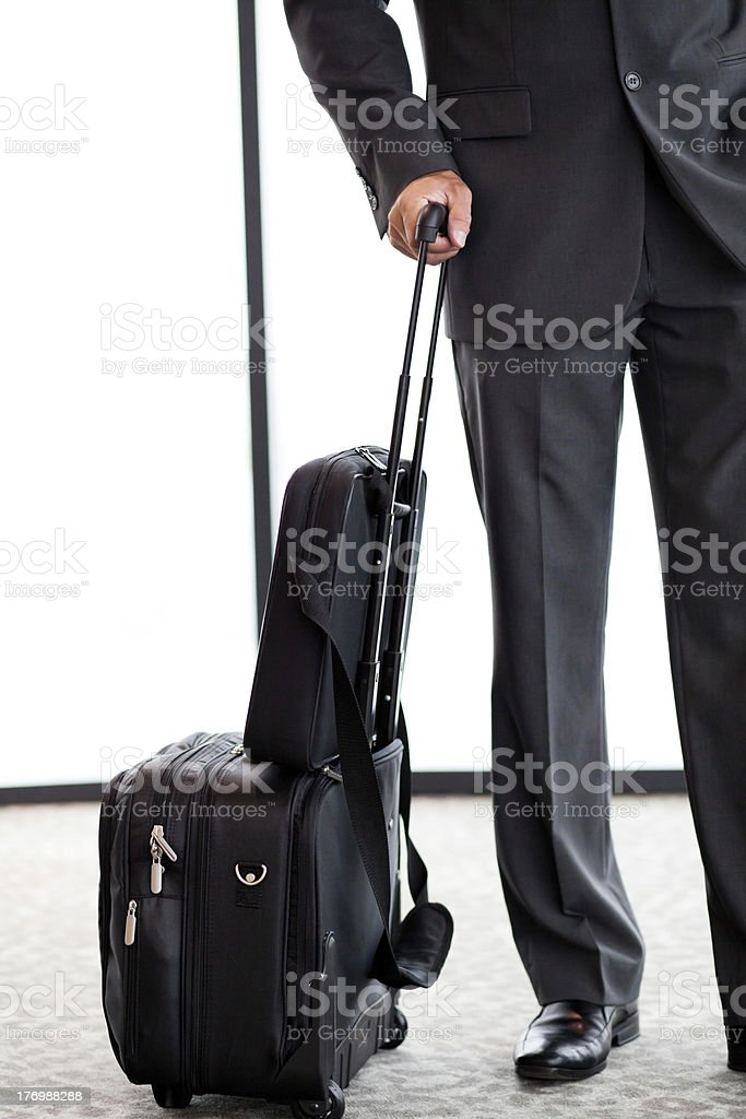 businessman with luggage royalty-free stock photo