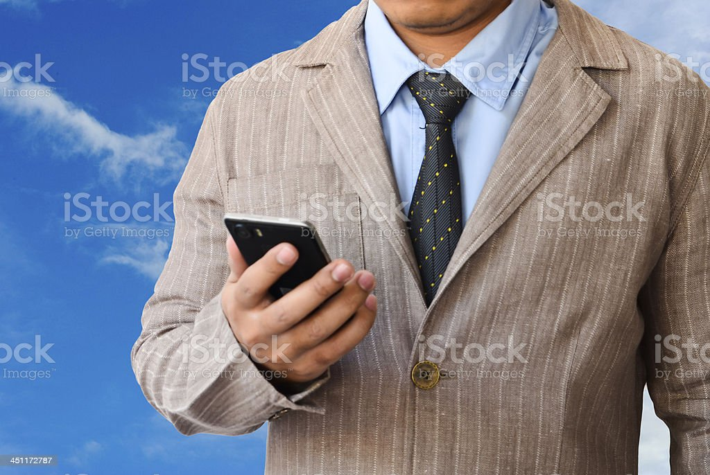 businessman with mobile phone royalty-free stock photo