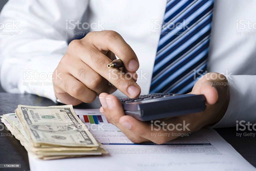 businessman with money royalty-free stock photo
