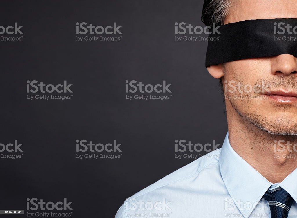 Businessman with no vision stock photo