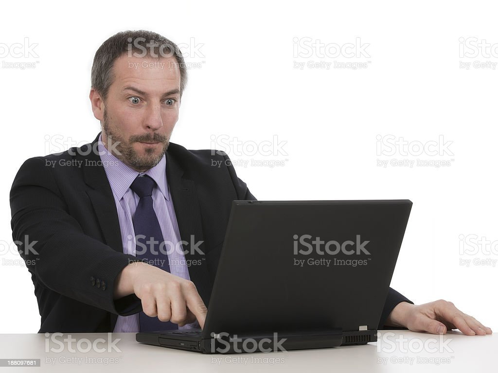 Businessman with notebook stock photo