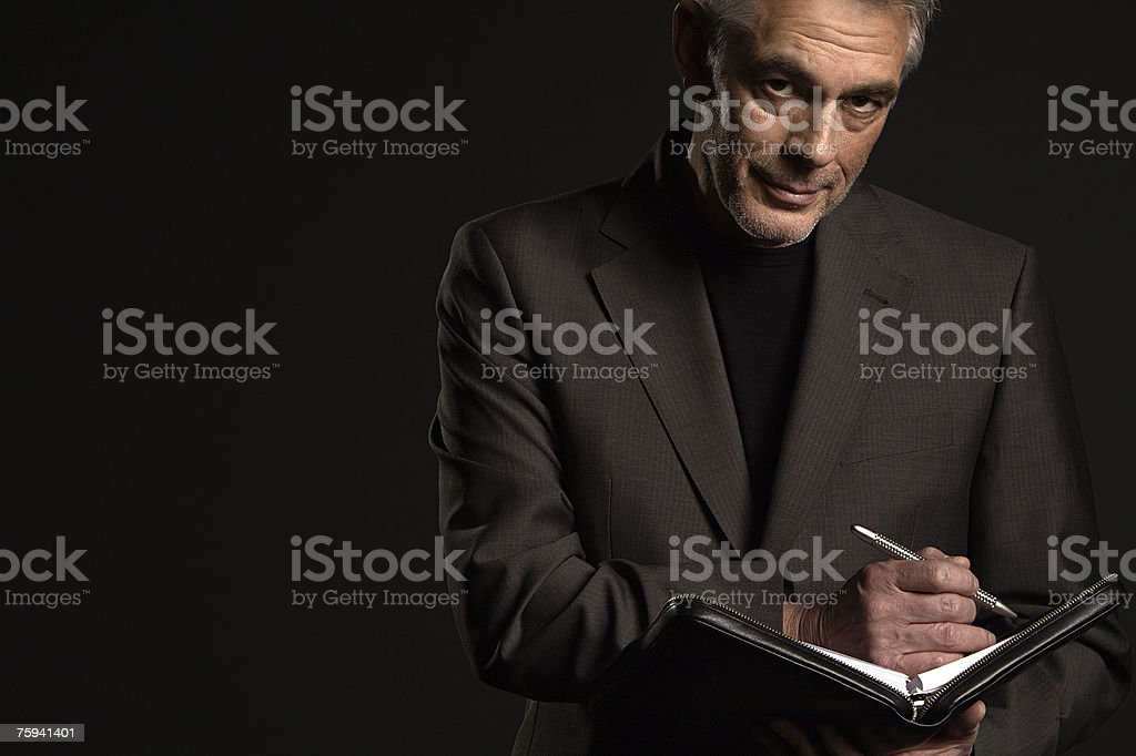 Businessman with organiser royalty-free stock photo