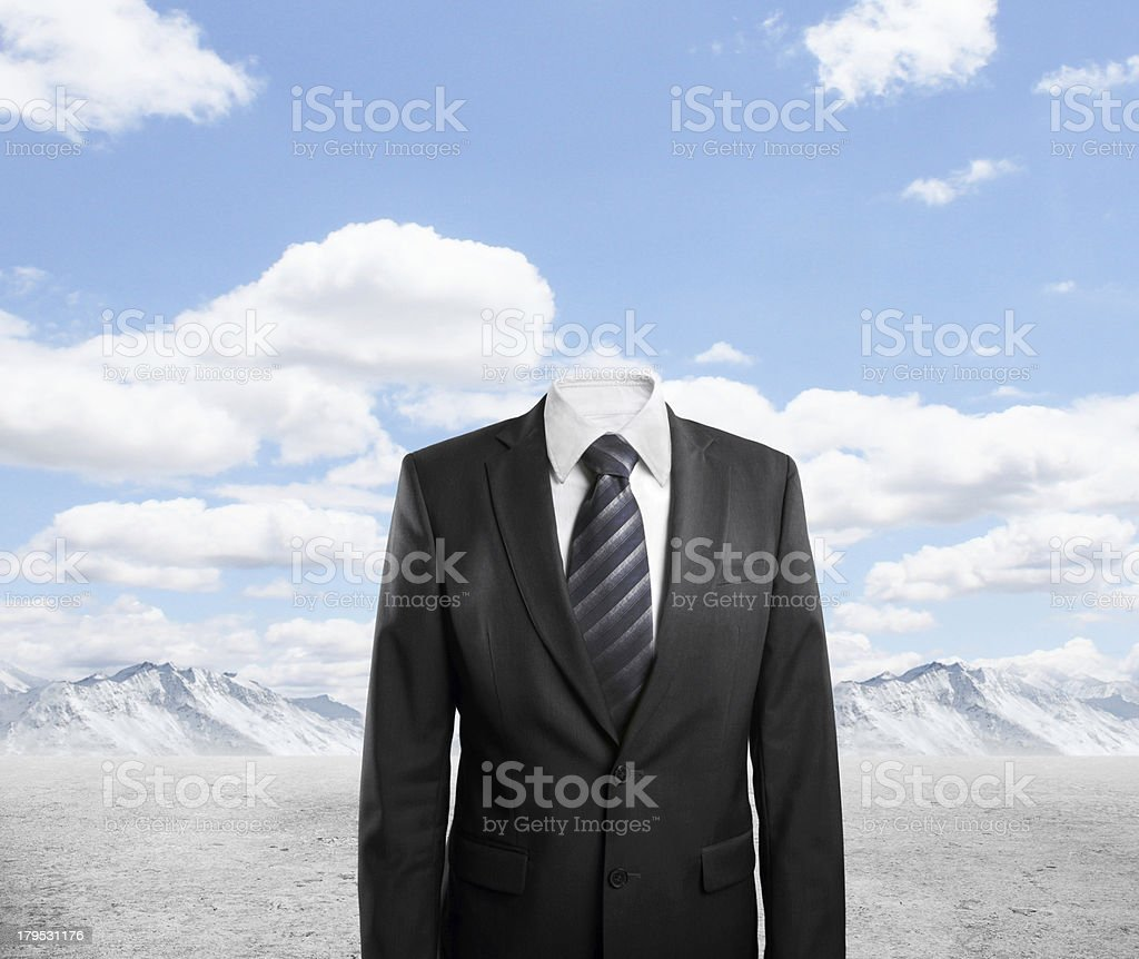 businessman with out head royalty-free stock photo