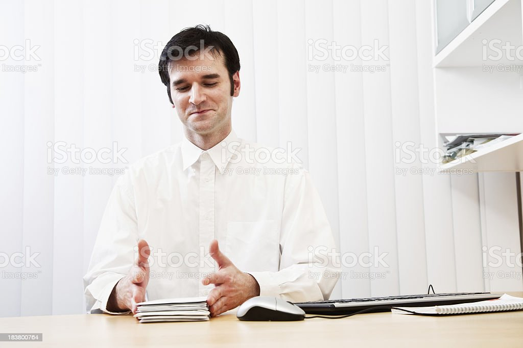 businessman with paperwork in office royalty-free stock photo