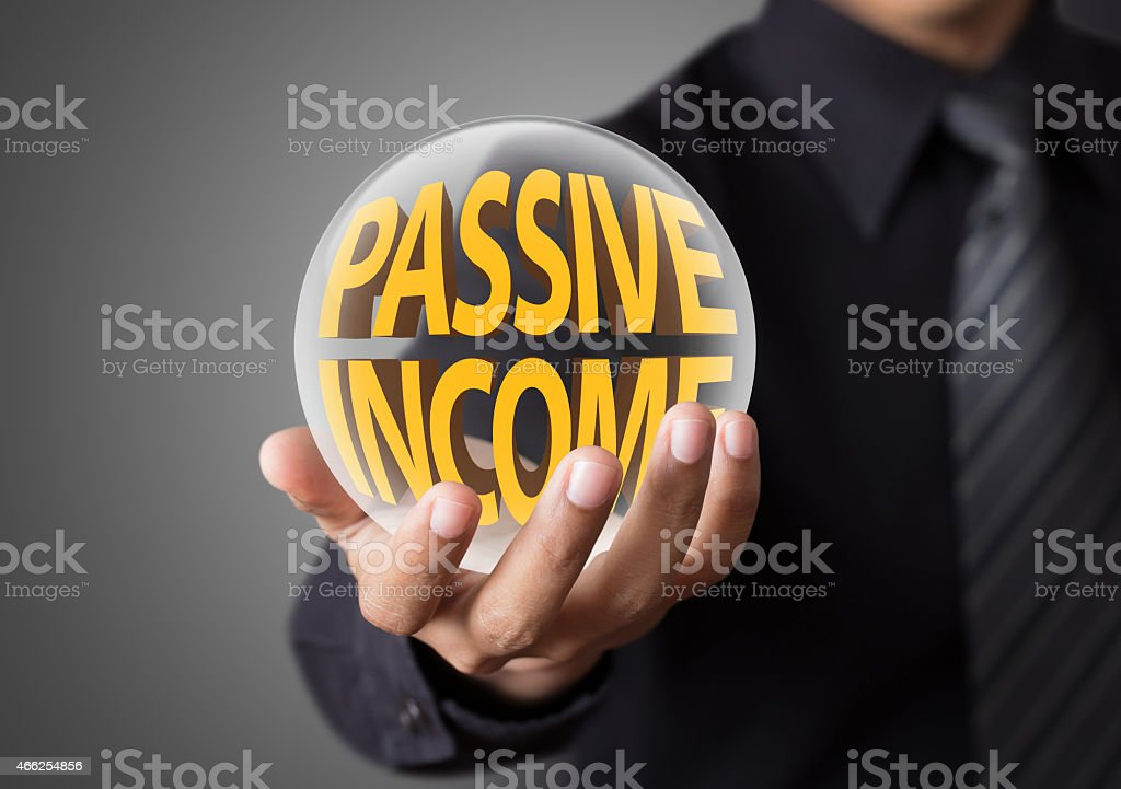 Businessman with passive income concept stock photo