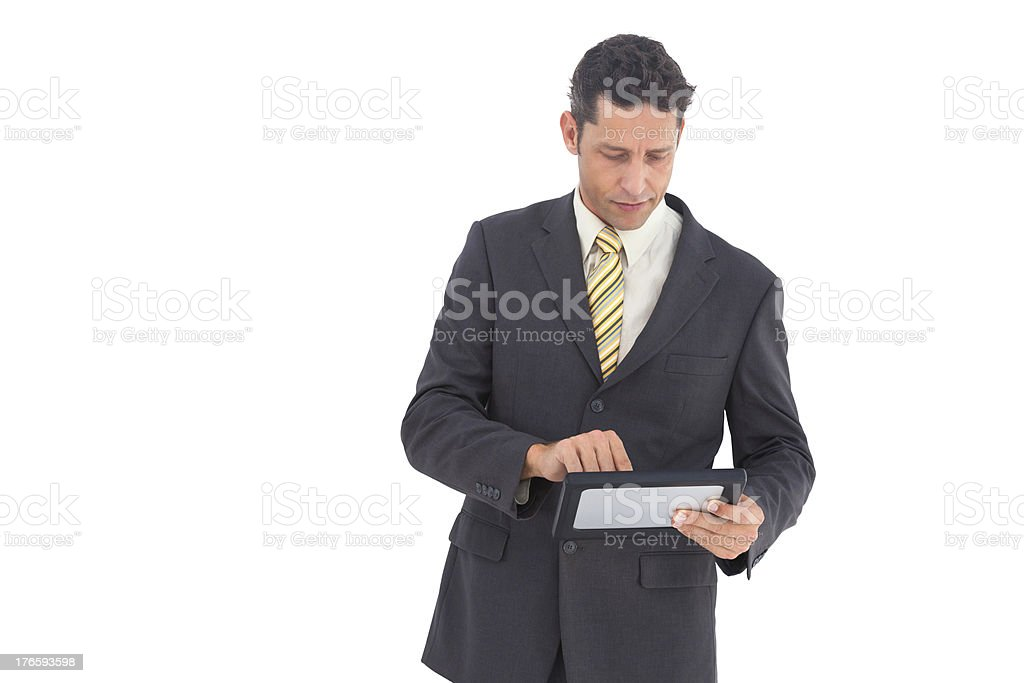 Businessman with pc tablet royalty-free stock photo