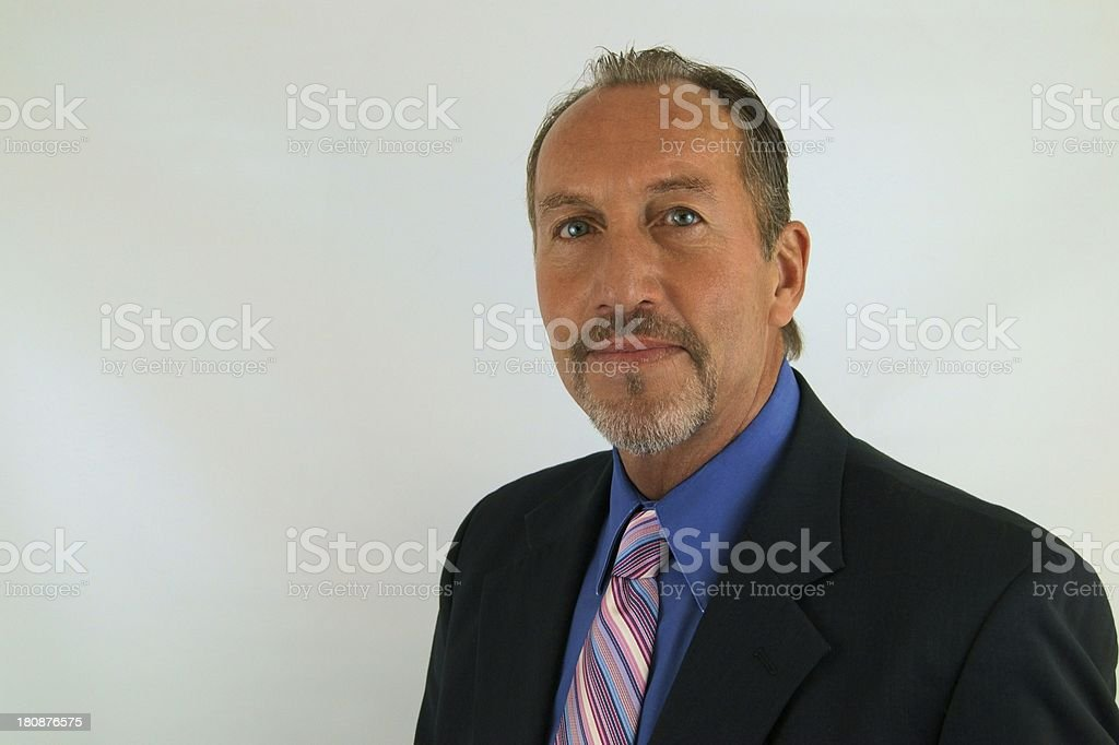 Businessman with pink striped tie royalty-free stock photo