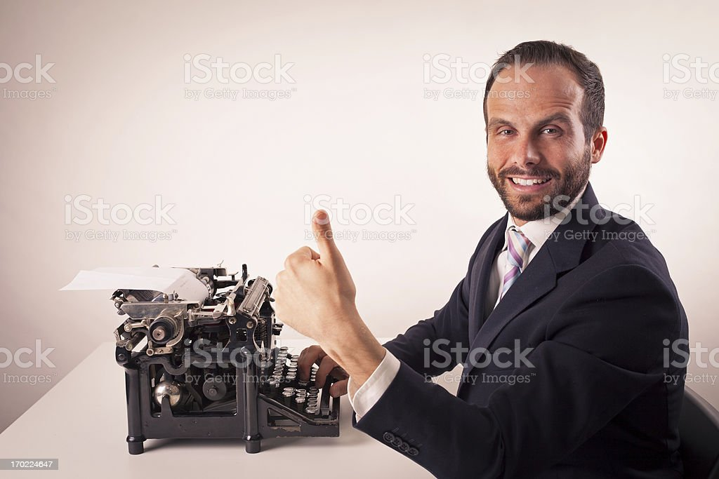 businessman with smartphone isolated royalty-free stock photo