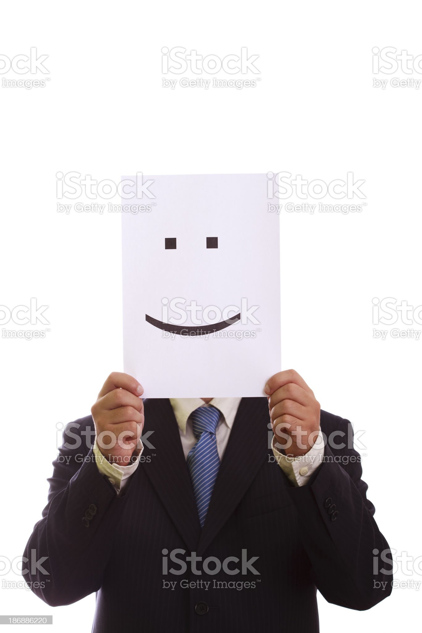 Businessman with smiley face royalty-free stock photo
