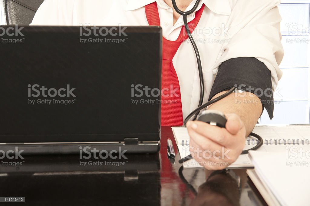 Businessman with stress royalty-free stock photo