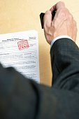 Businessman with tax document