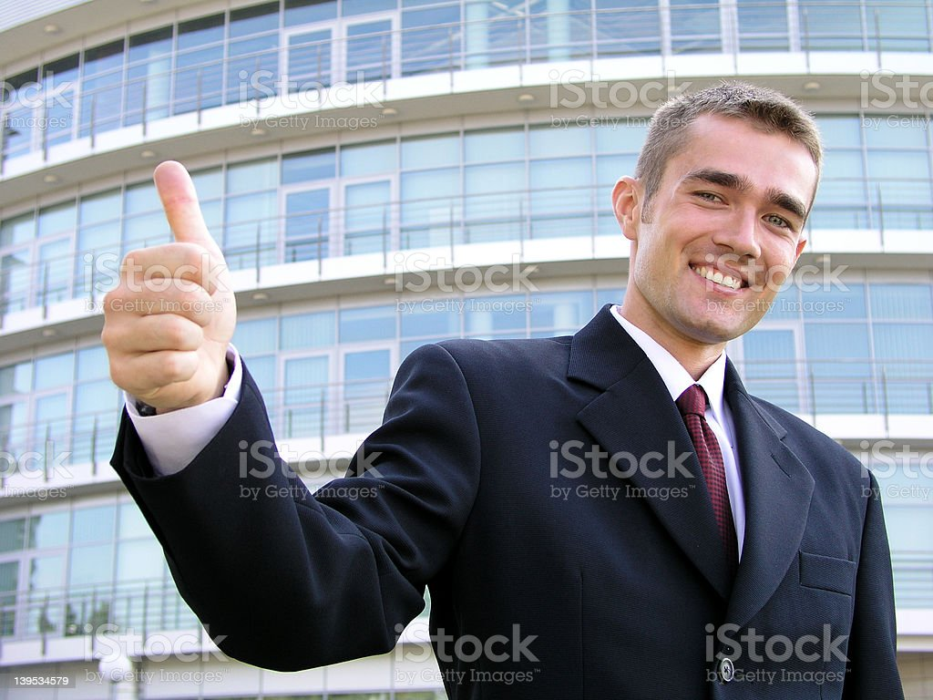 Businessman With Thumb Up royalty-free stock photo