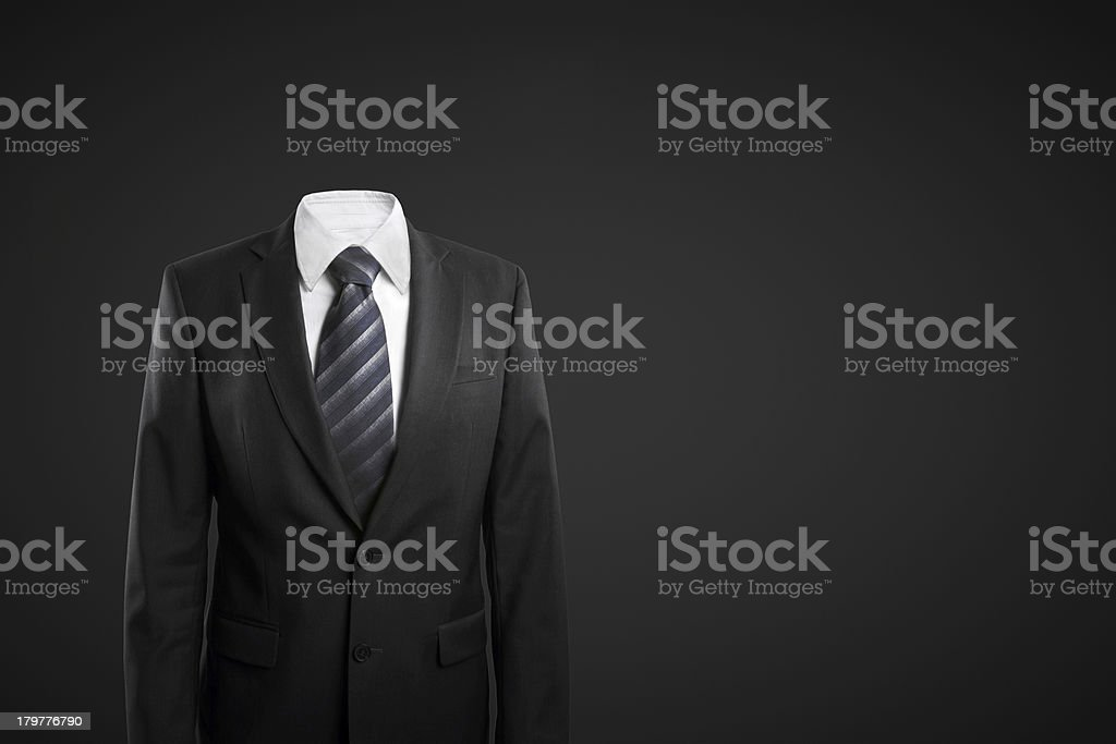 businessman without head stock photo
