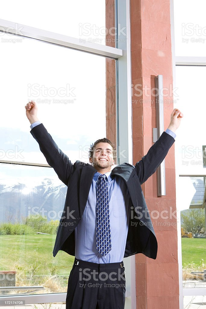 Businessman Woohoo! royalty-free stock photo