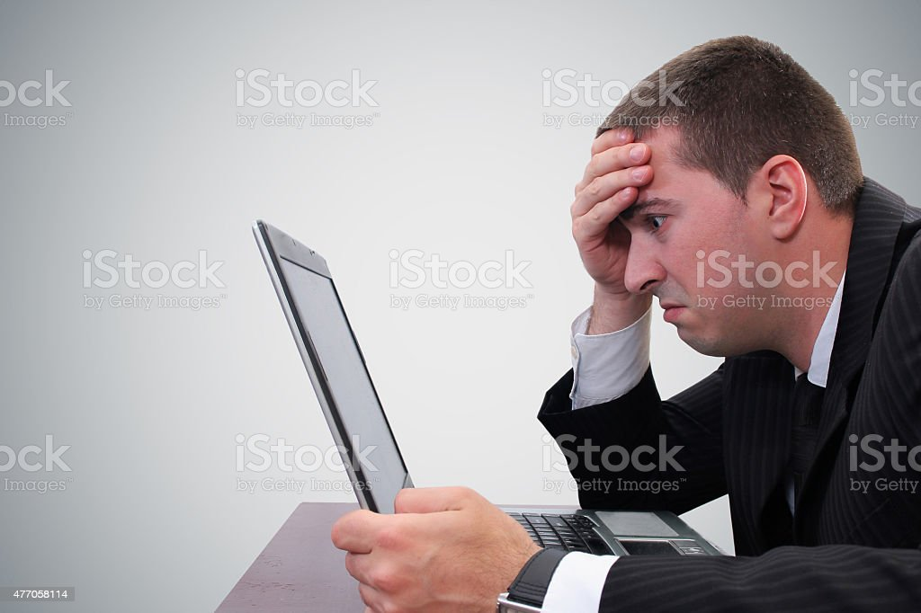 Businessman woried stock photo