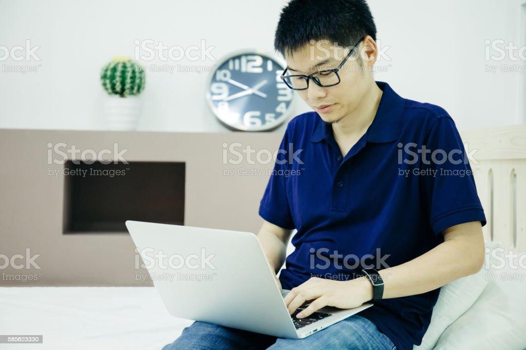 Businessman work indoors stock photo