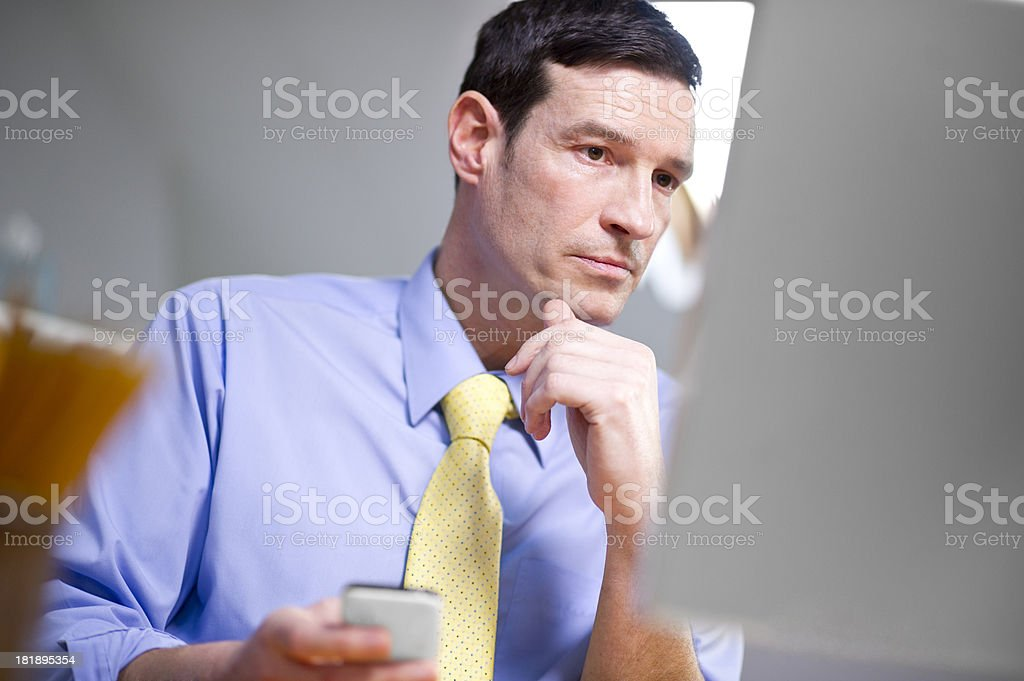 businessman working at his desk royalty-free stock photo