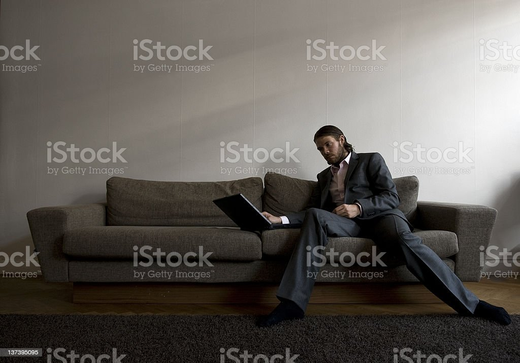 Businessman working at home royalty-free stock photo
