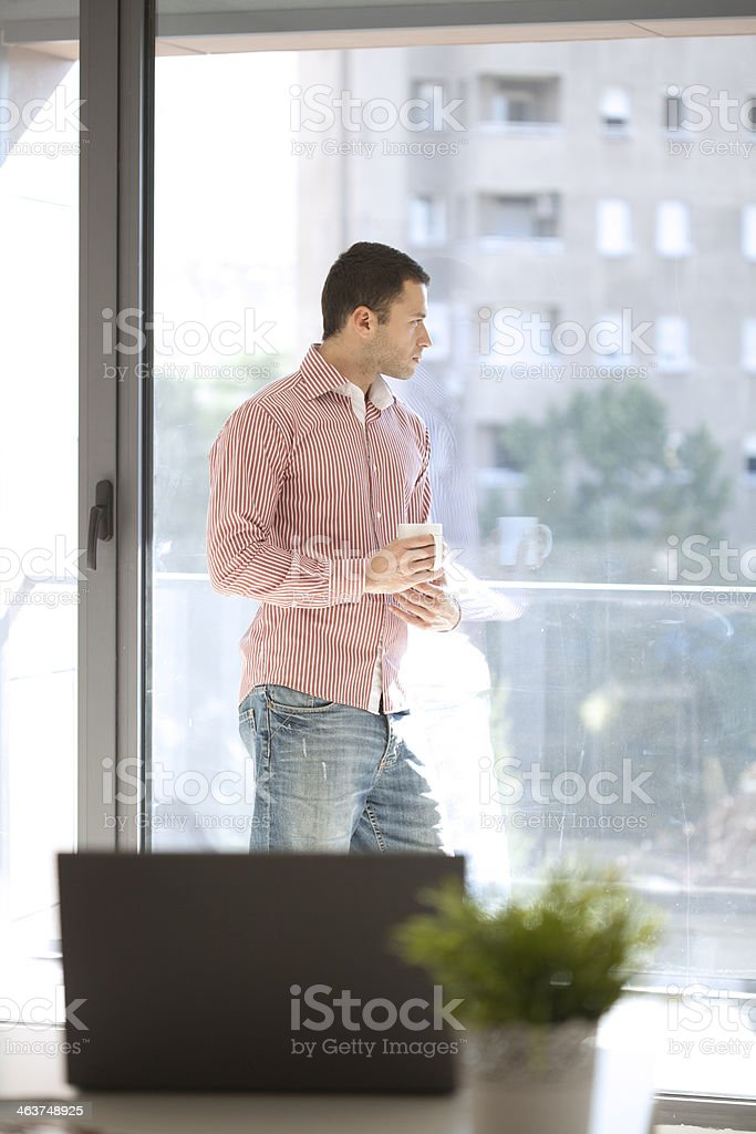 businessman working in his office royalty-free stock photo