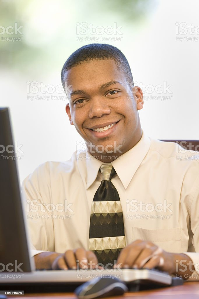 Businessman Working On His Computer royalty-free stock photo