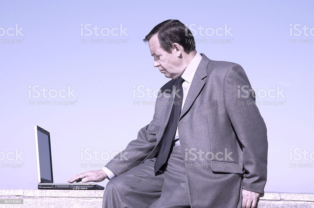 businessman working on the laptop royalty-free stock photo