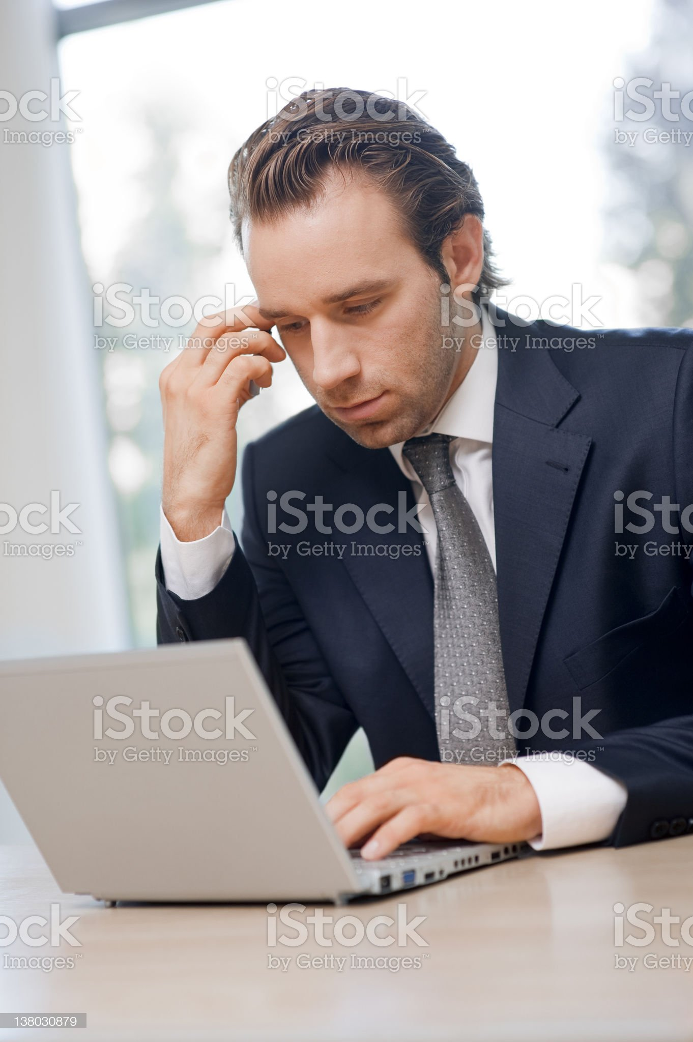 Businessman working royalty-free stock photo