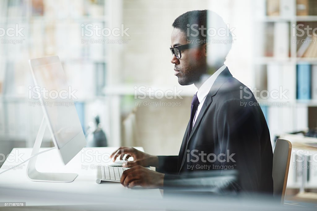 Businessman working stock photo