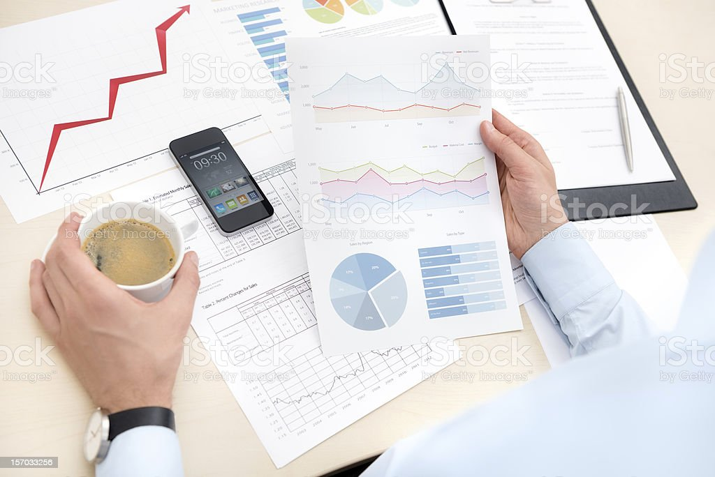 Businessman working with documents royalty-free stock photo