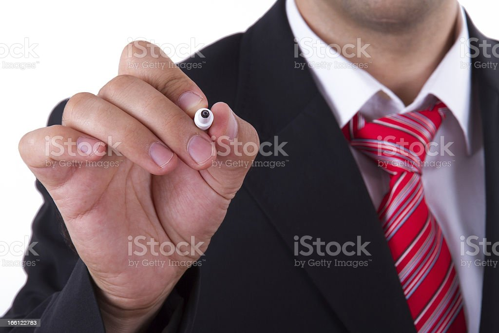 Businessman Writing Concept royalty-free stock photo