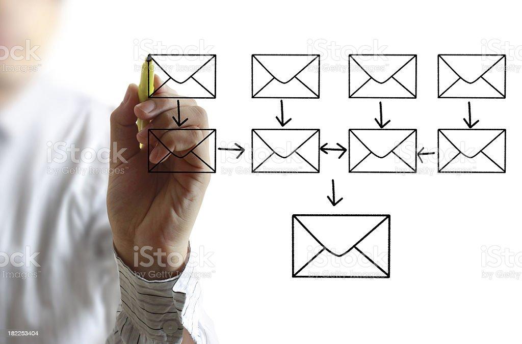 businessman writing e-mail royalty-free stock photo
