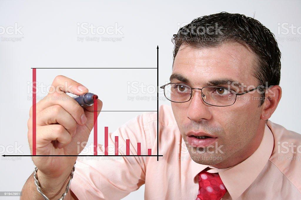 Businessman writing royalty-free stock photo