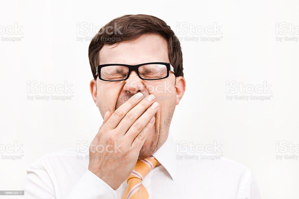 Businessman Yawning stock photo
