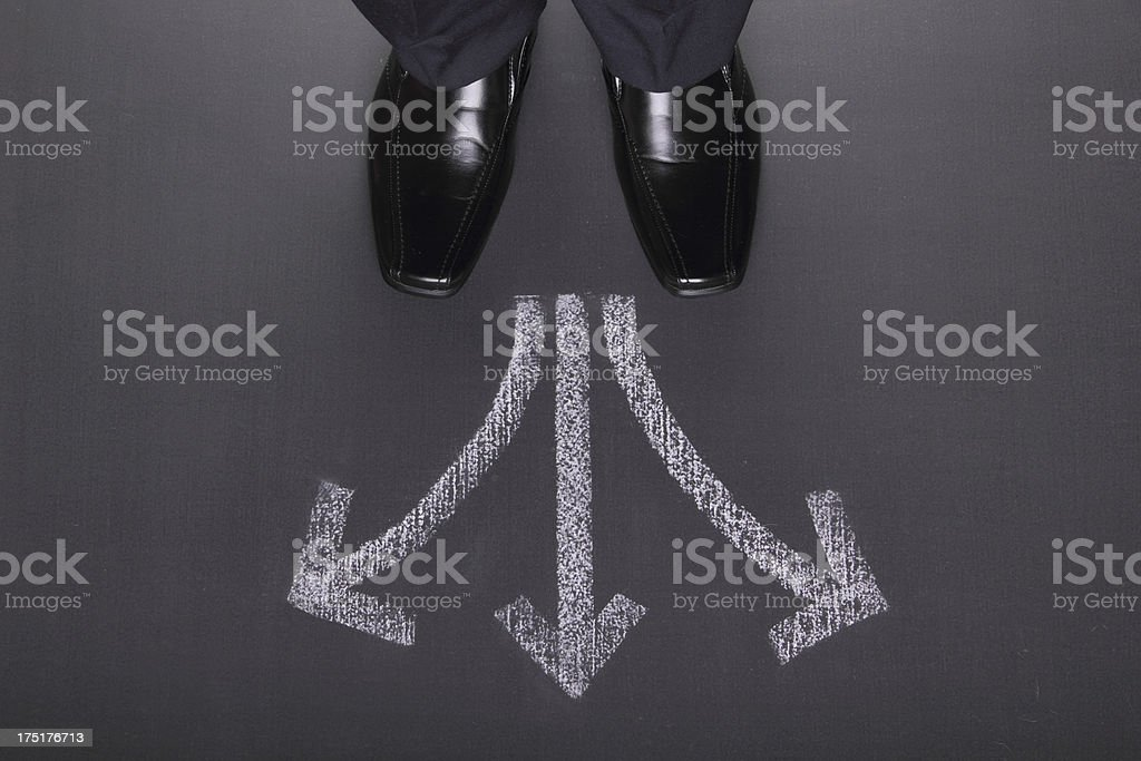 Businessman's Decisions stock photo