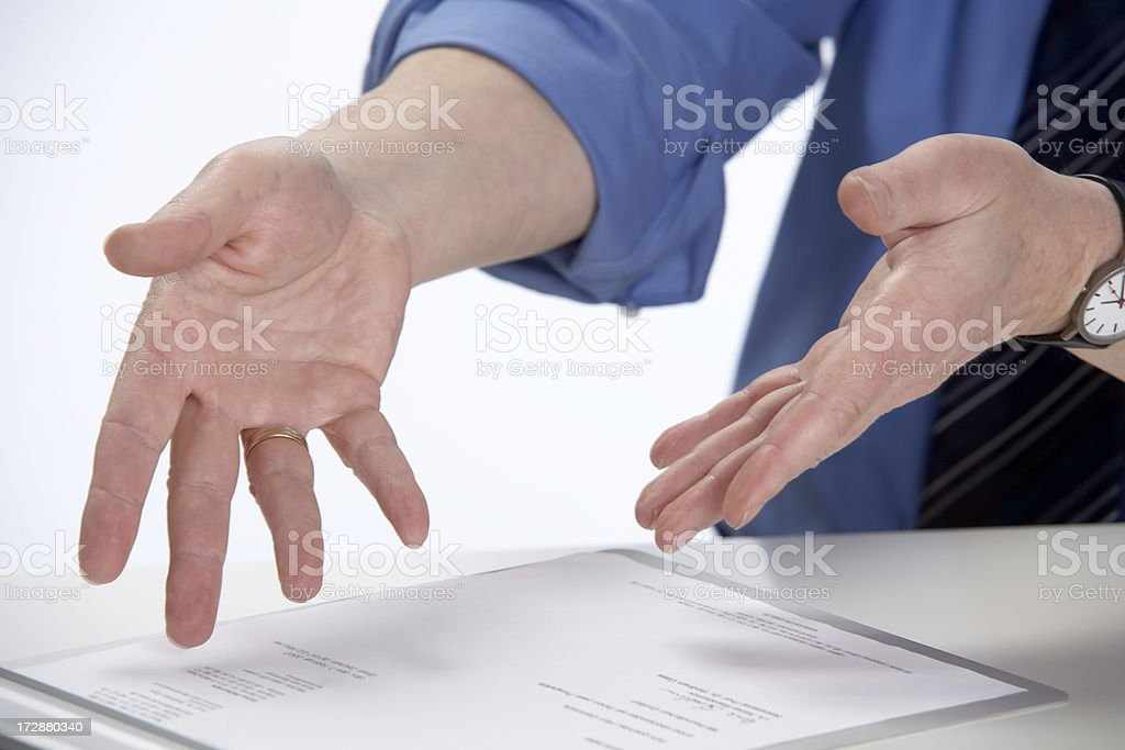 Businessman's hand gesture... royalty-free stock photo