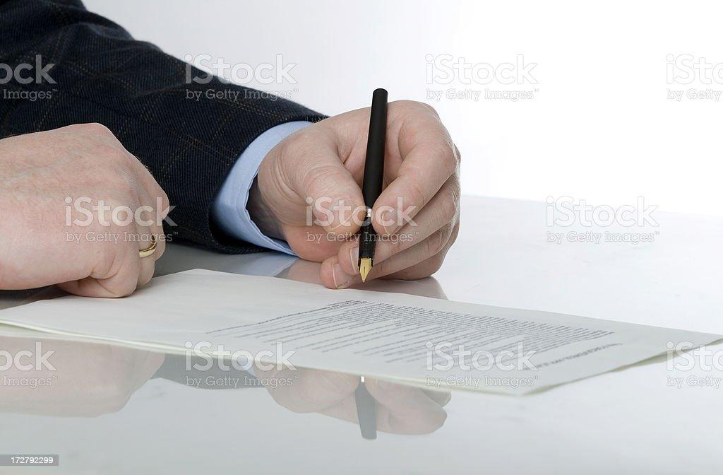 Businessman's hand royalty-free stock photo