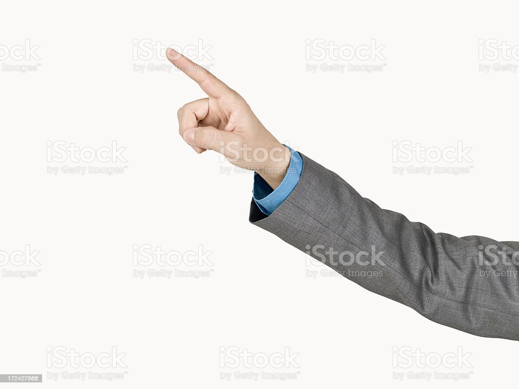 Businessman's Hand Pointing royalty-free stock photo