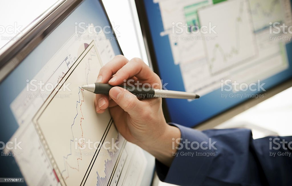 Businessman's Hand with Stylus royalty-free stock photo