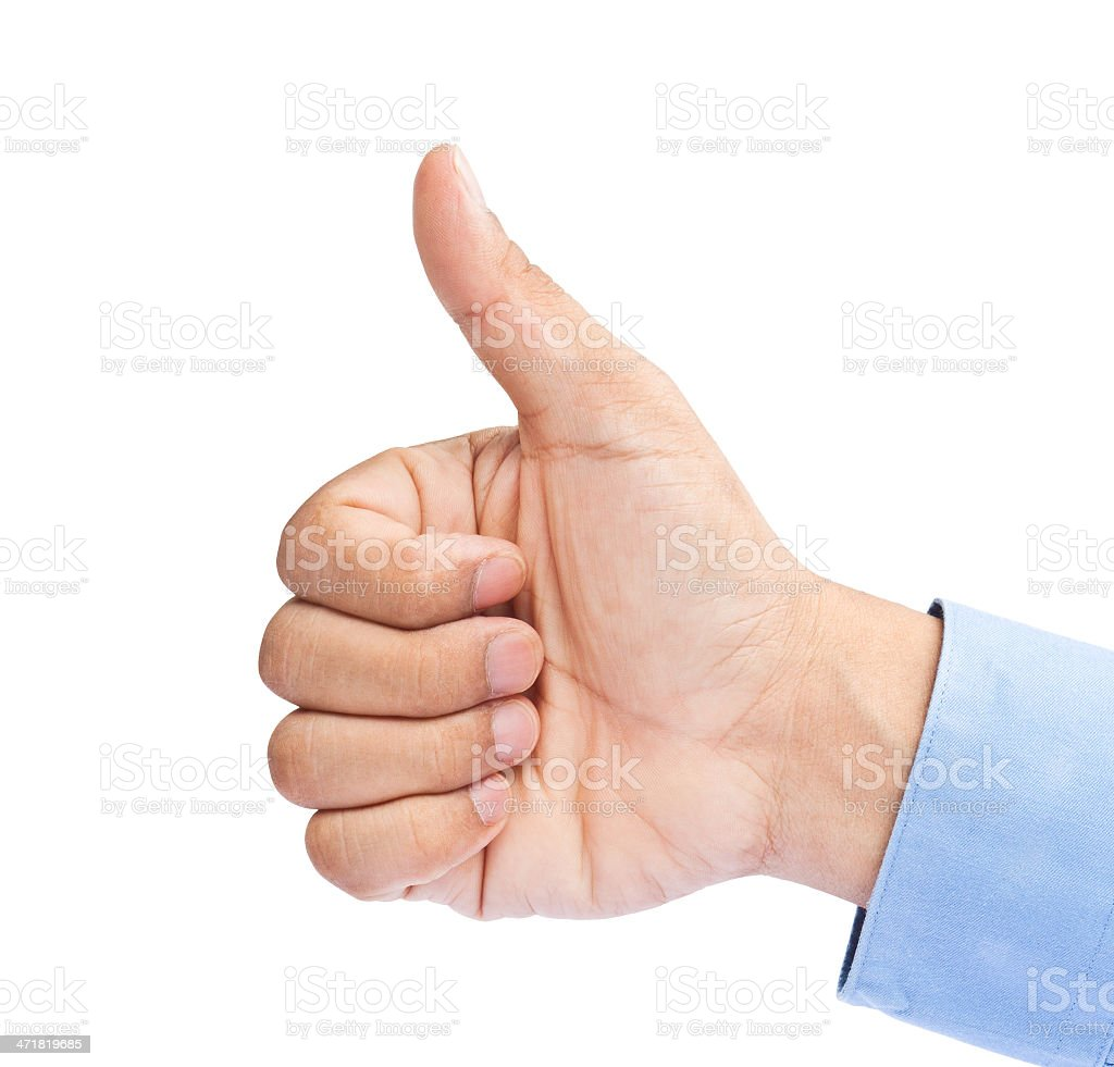 Businessman's hand with thumb royalty-free stock photo
