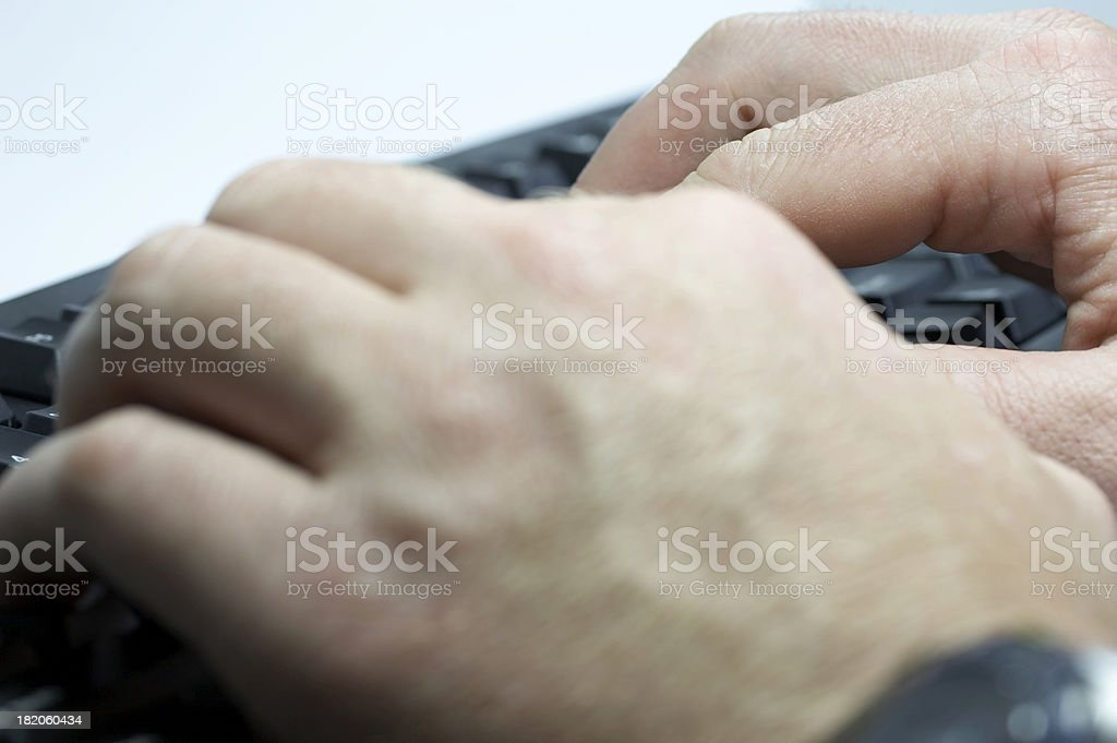 Businessman's hands royalty-free stock photo