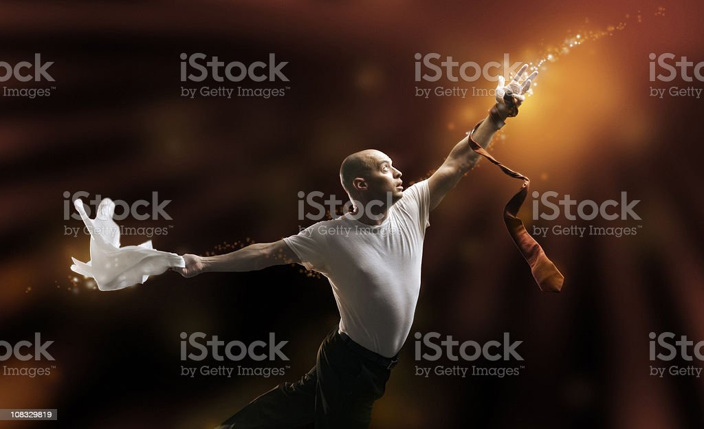 Businessman's Magic Reach royalty-free stock photo