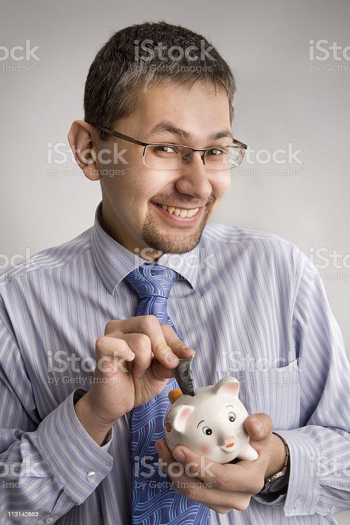 Businessman's savings. stock photo