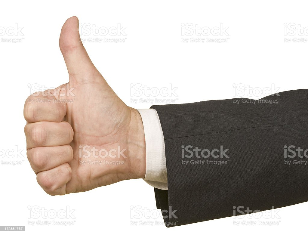 Businessman's Thumbs Up royalty-free stock photo