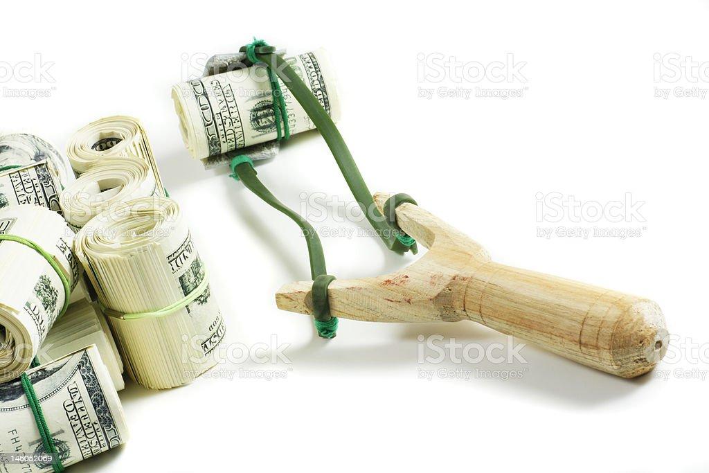 Businessman's weapon stock photo