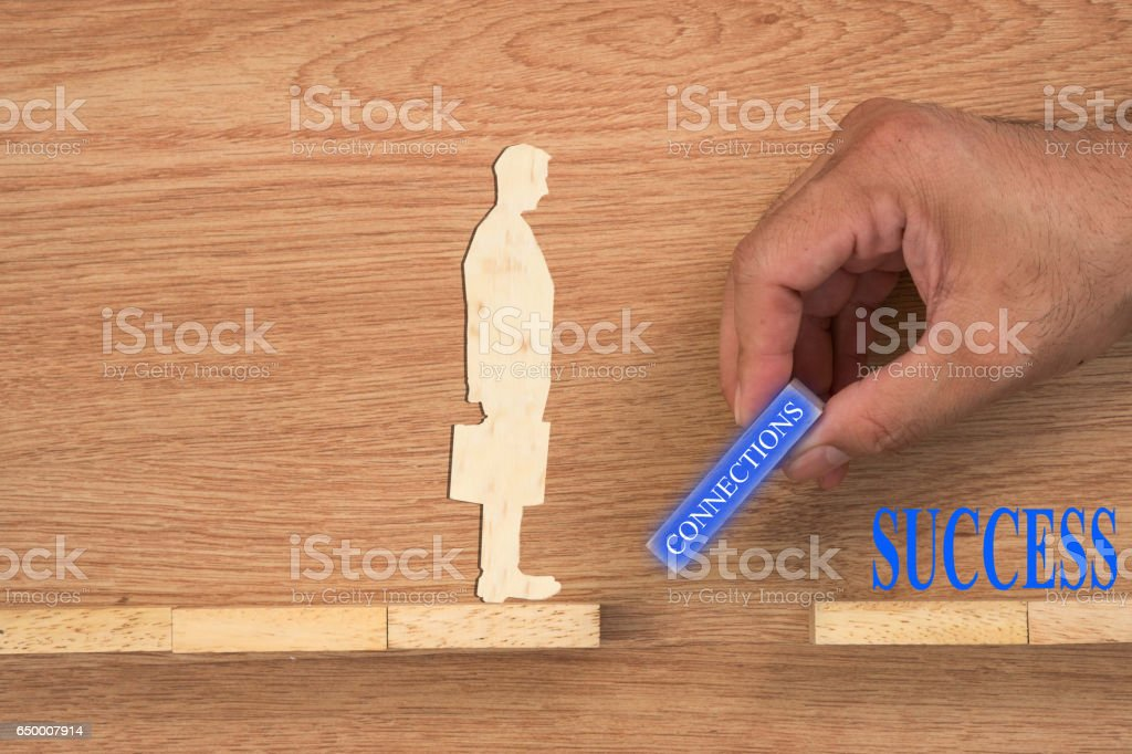 Businessmen and business connections. stock photo