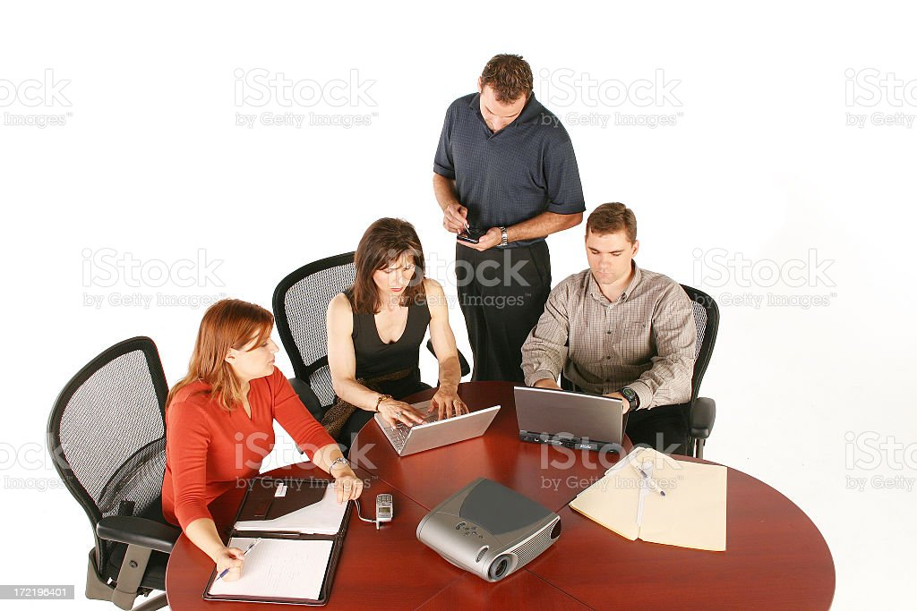 Businessmen and businesswomen royalty-free stock photo