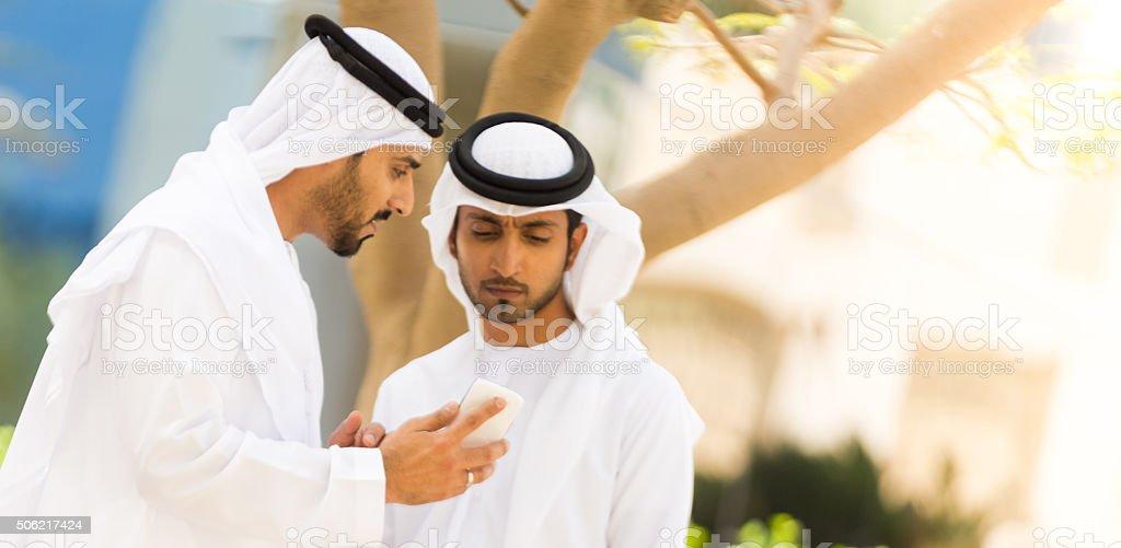 Businessmen at work stock photo