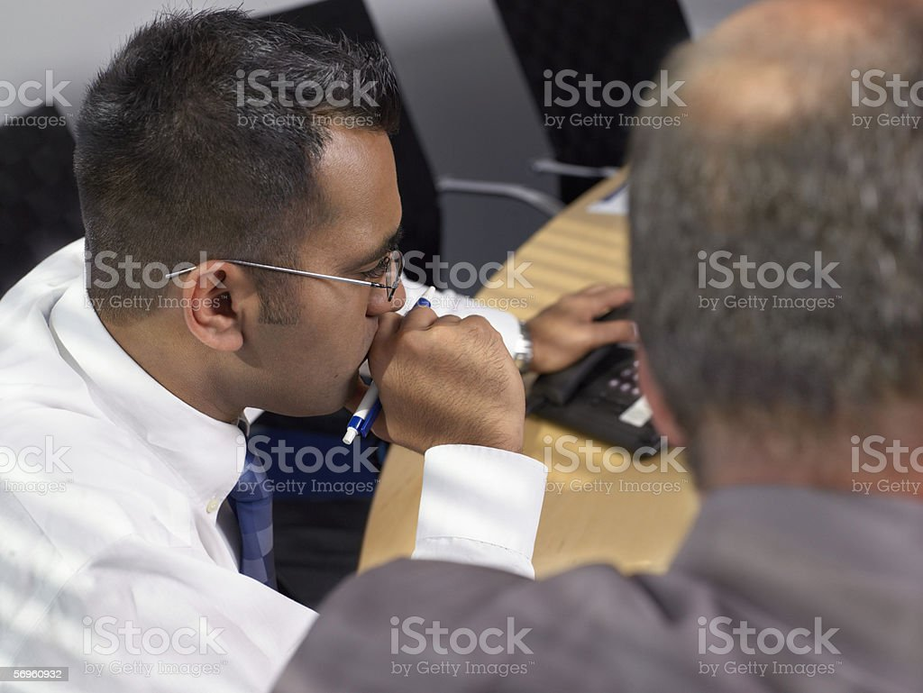 Businessmen at work royalty-free stock photo