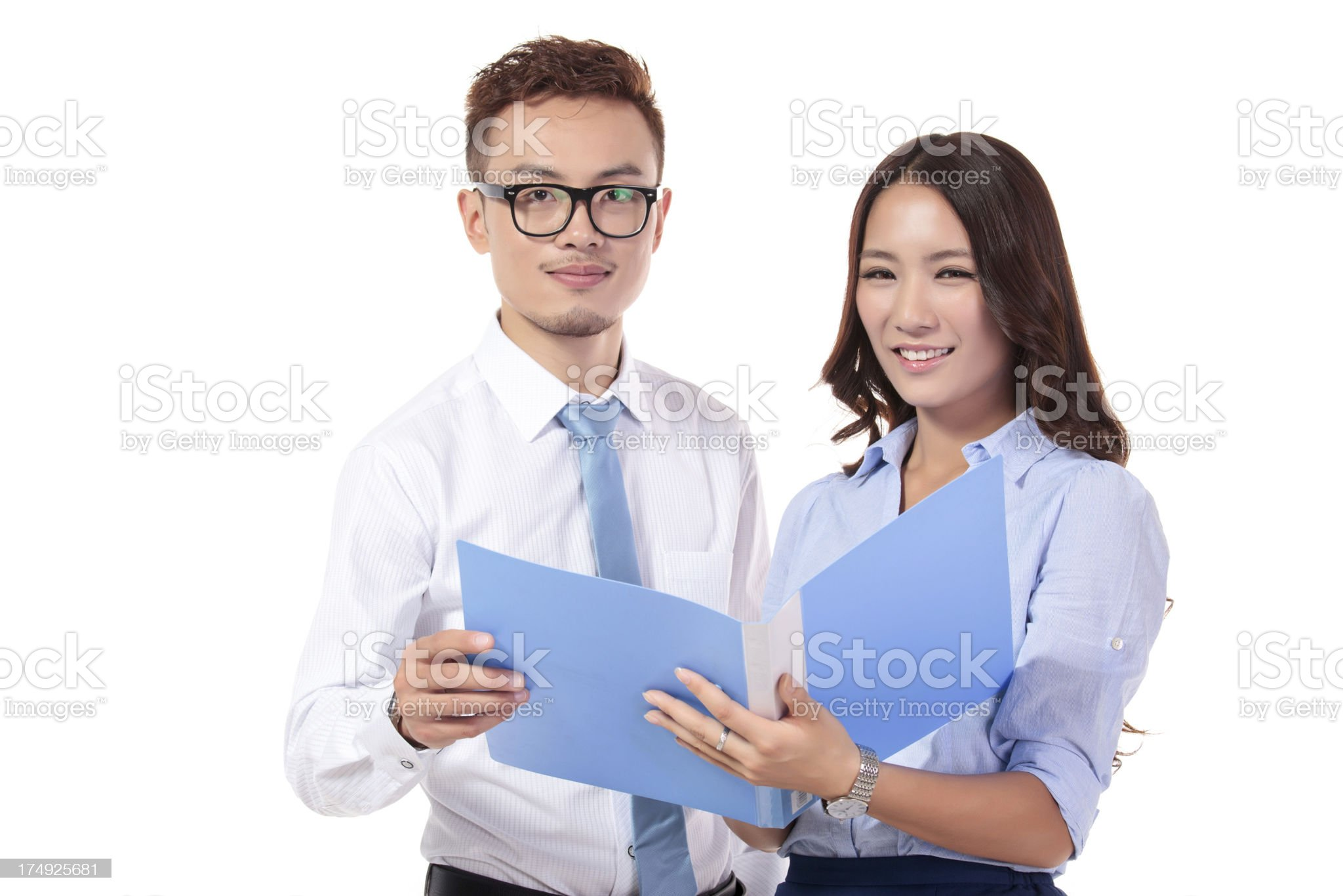Businessmen discussing business royalty-free stock photo