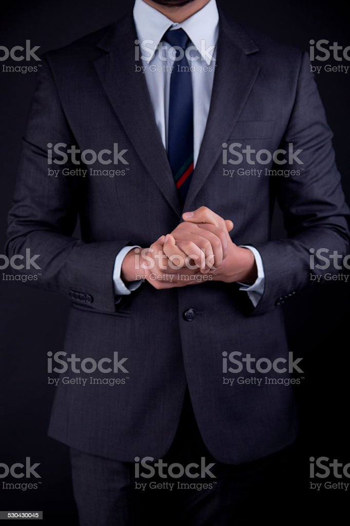 Businessmen hands Relaxation stock photo